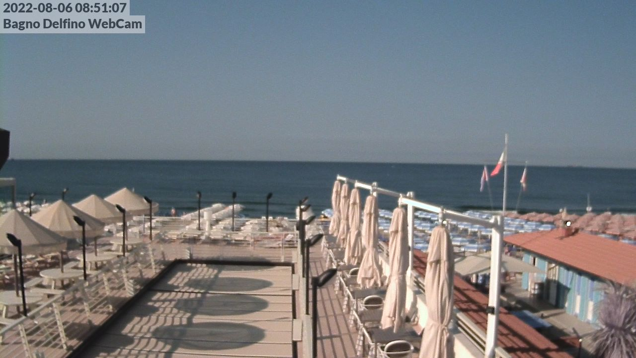 Webcam Bagno Delfino Marina di Carrara